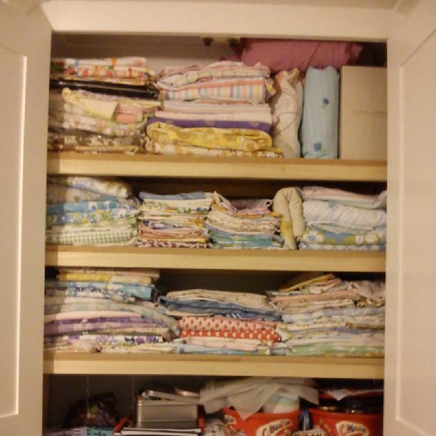 vintage sheet cupboard