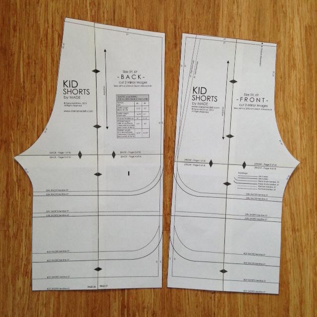 WIP shorts pattern